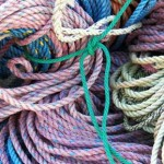 Monhegan has plenty of piles of lobster pot warp (rope to you).
